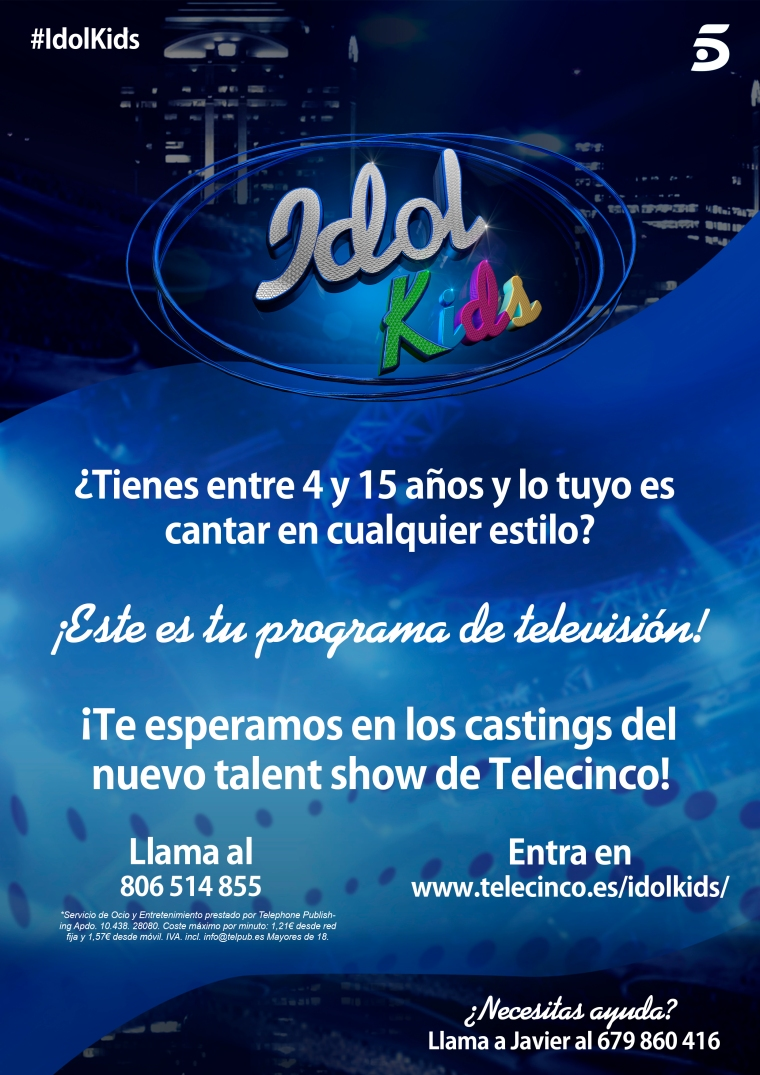 Idol Kids - Cartel A4 v2 - Javier